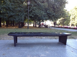 ...where benches play Chopin.